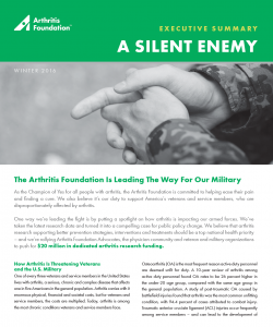 Advocacy Arthritis Military Executive Summary