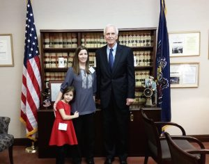 Abby and Kerry Ferraro Pennsylvania Capitol Day