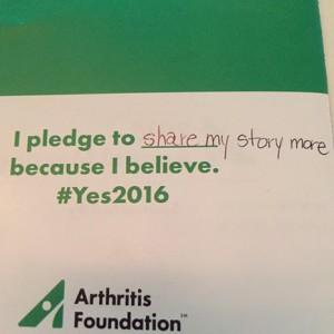 Arthritis Foundation Pledge #Yes2016