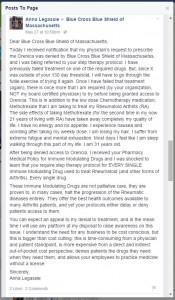 Anna's Facebook Post
