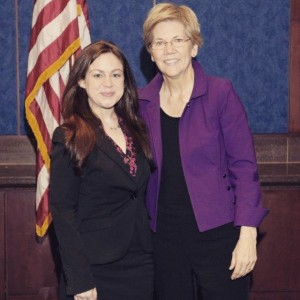 Anna with Senator Warren