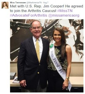 Miss Tennessee and Representative Jim Cooper