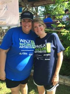 Becky Johnson and Cathy McHorse Walk to Cure Arthritis