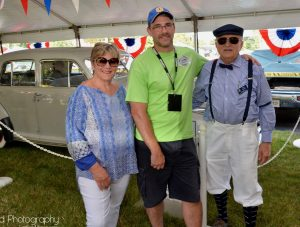 Ann Palmer, Kevin Gadd and Tom Penty at the 2017 Classic Auto Show and Cruise In