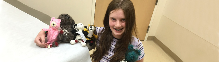Crocheting for a Cause: Juliette Harrison Handcrafts Animals for Children with Arthritis