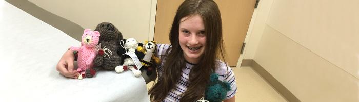 Crocheting for a Cause: Juliette Harrison Handcrafts Animals for Children with Arthritis