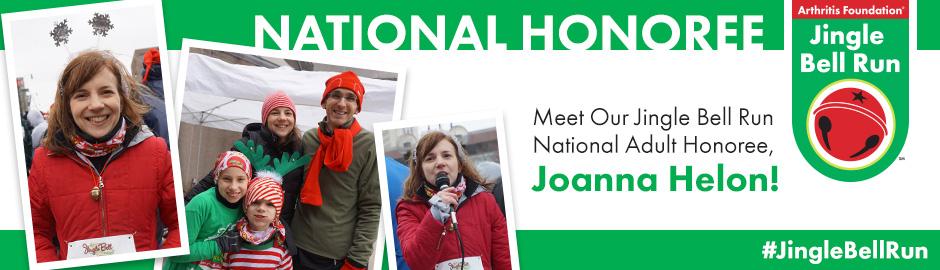 National Adult Jingle Bell Run Honoree Joanna Helon Fosters Hope