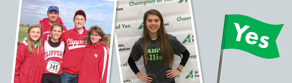 Champion of Yes: A Three Sport Athlete, Allison Alberts Charges Forward Through Arthritis Pain