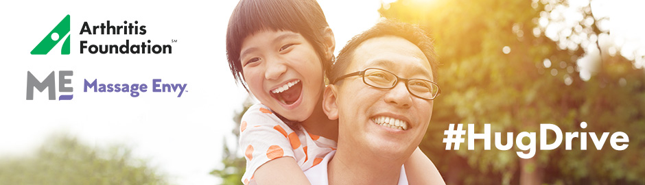 Massage Envy's #HugDrive: Tweet a Virtual Hug on Father's Day to Benefit the Arthritis Foundation!